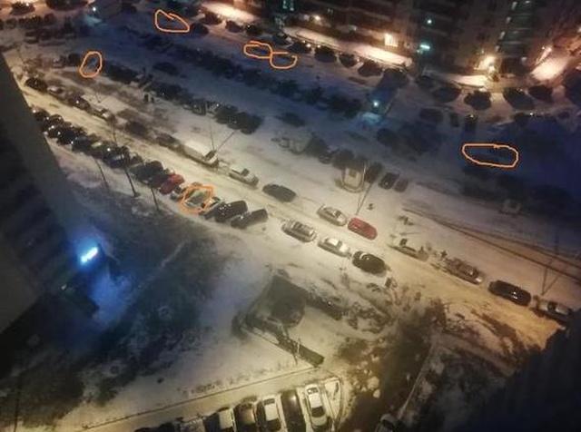 Решение проблемы с парковкой во дворе всячина