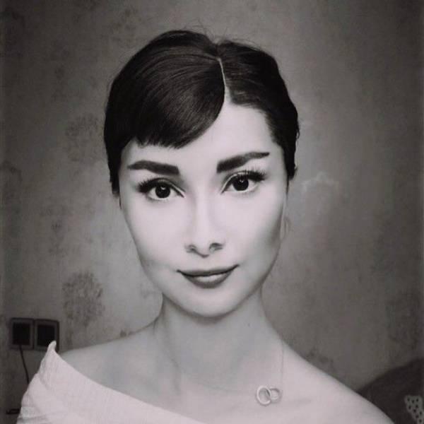 Как китаянка превратилась в Джонни Деппа за 10 шагов с помощью макияжа Интересное