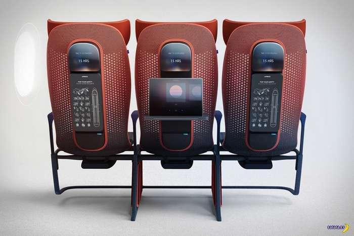 Концепт новых пассажирских сидений для Airbus Интересное