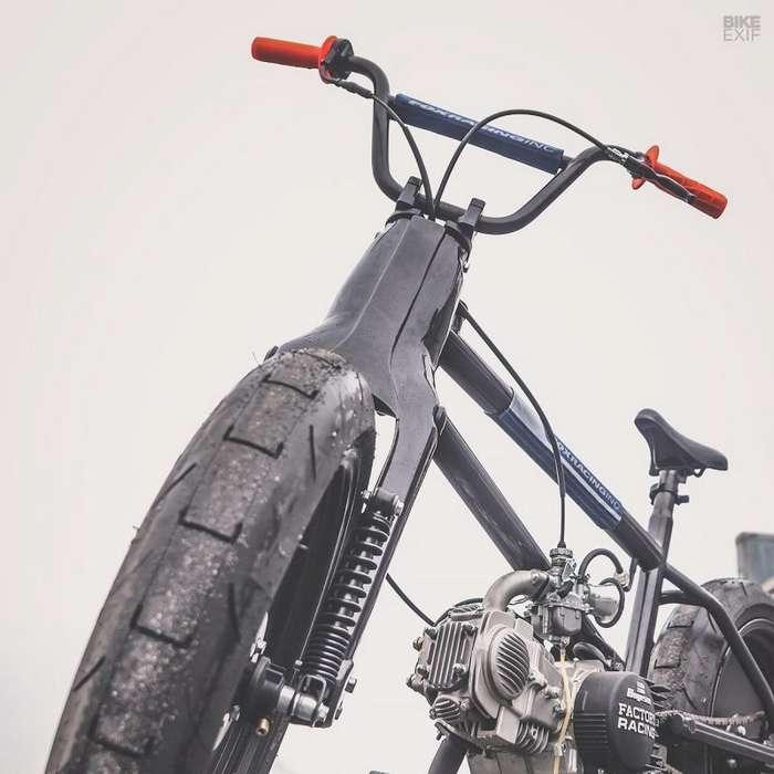 56 Motorcycles: гибрид Honda Cub и велосипеда BMX Интересное