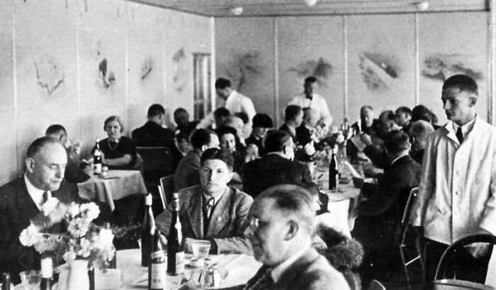 Редкие исторические фотографии: интерьеры дирижабля «Гинденбург» перед катастрофой   Интересное