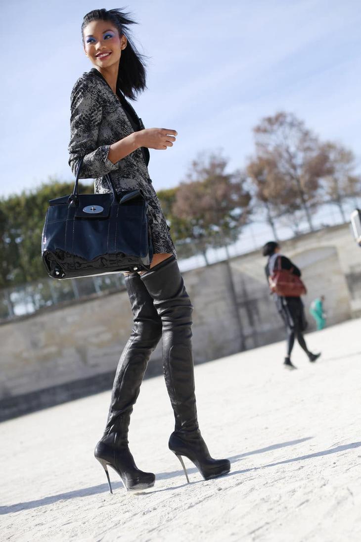 Европейская мода: гольфы, чулки, высокие носки. И как это смотрится? Вульгарно? Красиво? Или ужасно? лучшее