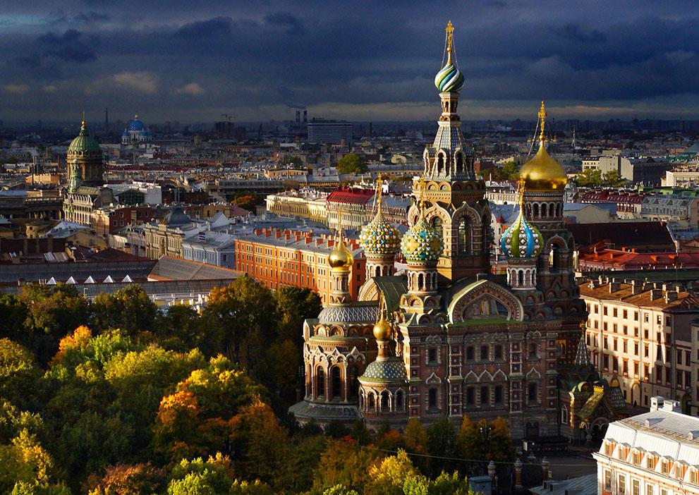 Санкт-Петербург — вид сверху аэрофото