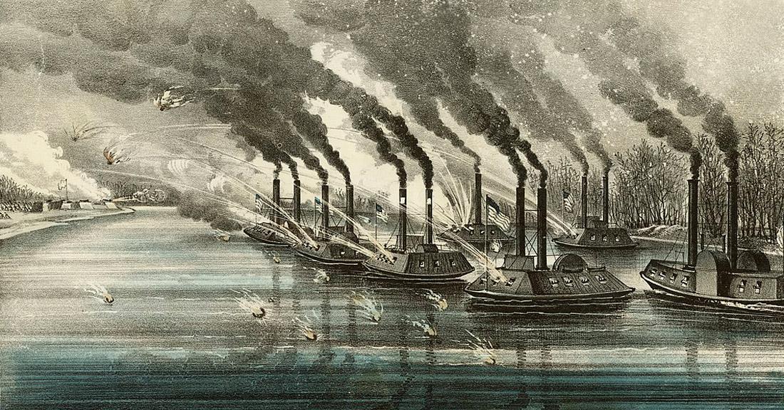 США. 1862 год. Броненосцы начинают и выигрывают Дальние дали